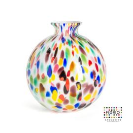 Design vaas Fidrio - Bolvase Candy - gekleurd glas - mondgeblazen - 23 cm diep