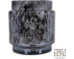 Design pot Puccini - Fidrio NERO - glas, mondgeblazen - diameter 17 cm hoogte 20,5 cm