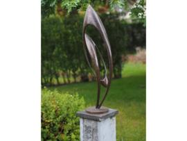 """Tuinbeeld - modern bronzen beeld - sculptuur """"Endless"""" - Bronzartes - 86 cm hoog"""