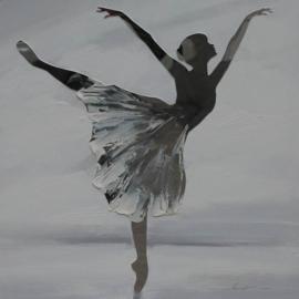 Olieverfschilderij - Ballerina