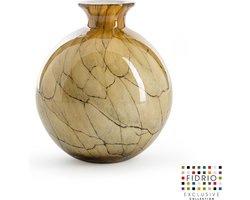 Design vaas Bolvase With Neck - Fidrio DESERT - glas, mondgeblazen bloemenvaas - diameter 19 cm