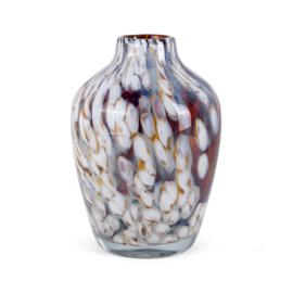 Design vaas Fidrio - glazen sculptuur - hazel -  Sorobon - glas - mondgeblazen - 28 cm hoog