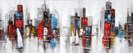 Olieverfschilderij - Modern abstract - 60x150 cm