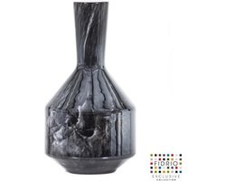 Design bottle Benito large - Fidrio NERO - glas, mondgeblazen - hoogte 35 cm