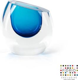 Design vaas Mini vase blue - Fidrio Massive - glas, mondgeblazen - hoogte 11,5 cm