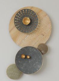 Metalen wanddecoratie - wanddeco - cirkels --