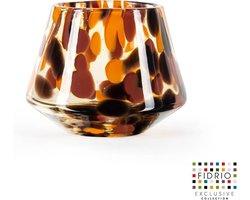 Design vaas Diamond - Fidrio Havanna - Bloemenvaas glas, mondgeblazen - diameter 13 cm