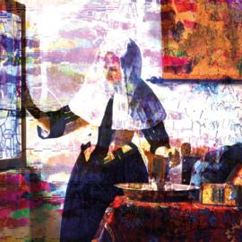 120 x 120 - Schilderij Dibond - Foto op aluminium - Vrouw met waterkan - Johannes vermeer - Mondiart