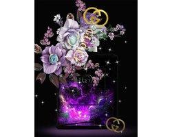 60 x 80 cm - Cadeautas van Gucci - Glasschilderij met goudfolie - Brands & Fashion