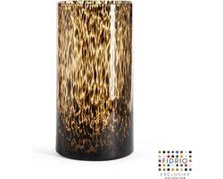 Design vaas Cilinder - Fidrio TIGER - glas, mondgeblazen bloemenvaas - diameter 20 cm hoogte 38 cm