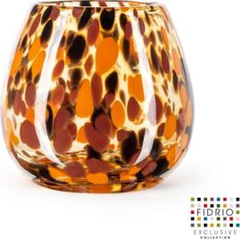 Design vaas Fiore - Fidrio Havanna - glas, mondgeblazen - hoogte 15 cm
