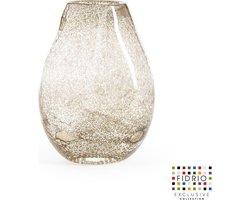 Design vaas Organic - Fidrio BUBBLES CLEAR - glas, mondgeblazen bloemenvaas - hoogte 20 cm  --