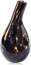 Design bottle Pisa - Fidrio LEPPARD - glas, mondgeblazen - hoogte 18 cm --