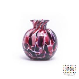 Design vaas Fidrio - glas kunst sculptuur - bolvase - Sensation - mondgeblazen - 8 cm diep --