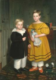 80 x 120 cm - Plexiglas schilderij - Raymond Children - klassieke kunst afbeelding op acryl - oude meesters!