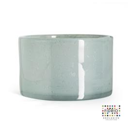 Design vaas Fidrio - glas kunst sculptuur - cilinder - Pacific- mondgeblazen - 14,5 cm hoog