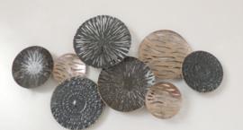Metalen wanddecoratie - wanddeco - cirkels