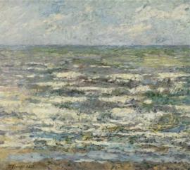 Plexiglasschilderij - De zee bij Katwijk