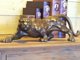 Tuinbeeld brons - bronzen beeld panter - Bronzartes
