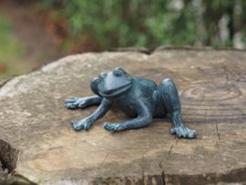 Bronzen beeld - Tuinbeeld - beeld  - kikker - Bronzartes - 8 cm hoog - voor huis en tuin