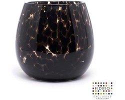 Design vaas fiore - Fidrio leppard - glas, mondgeblazen bloemenvaas - hoogte 22 cm