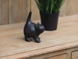 Beeld brons - Tuinbeeld - beeld kat - bronzartes - 10 cm hoog - voor huis en tuin
