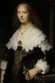 Foto op hout - Maria Trip Rembrandt