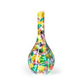 Design vaas Fidrio - glas kunst sculptuur - Bloemen - mondgeblazen - 60 cm hoog --