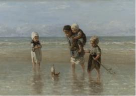 Foto op hout - Kinderen der Zee