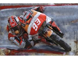 3D Schilderij Metaal - Motorsport - 120x80 cm
