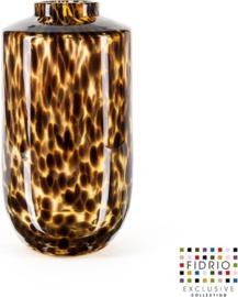 Design vaas Nova - Fidrio LEPPARD - glas, mondgeblazen bloemenvaas - hoogte 32 cm