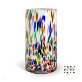 Design vaas Fidrio - Cilinder Candy - gekleurd glas - mondgeblazen - 35 cm hoog --
