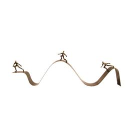 Bronzen beeldje - sculptuur - abstract - levensweg