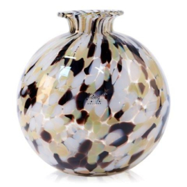 Design vaas Fidrio - glas kunst sculptuur - bolvase - Jaguar - mondgeblazen - 19 cm hoog --