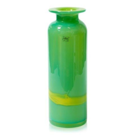 Design vaas Fidrio - glas kunst sculptuur - riga - Verde - mondgeblazen - 45 cm hoog