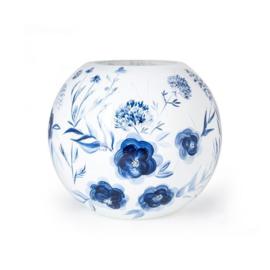 Design vaas Fidrio - glas kunst sculptuur - delfts blauw - handgeschilderd - 24 cm hoog
