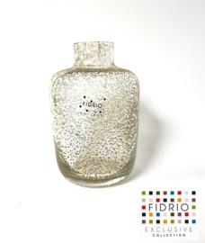 Design vaas Toronto - Fidrio BUBBLES CLEAR - glas, mondgeblazen bloemenvaas - hoogte 12,5 cm