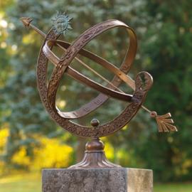 Zonnewijzer - bronzen wijzer - Zon en Maan