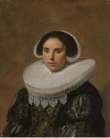 Schilderij Dibond - Portret van een Vrouw - Frans Hals