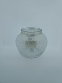 Design vaas Fidrio - glas kunst sculptuur - floreo - Platinum - mondgeblazen - 25 cm hoog