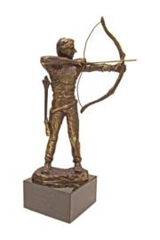 bronzen beeldje - sculptuur - sport  - handboogschieten - Martinique