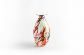 Design vaas Fidrio - glas kunst sculptuur - drop - Mixed colours - mondgeblazen - 30 cm hoog --