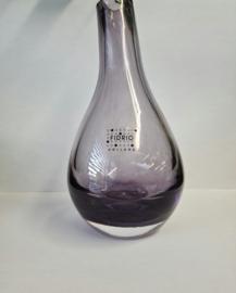 Design vaas Pisa - Fidrio clear purple - Bloemenvaas glas, mondgeblazen - hoogte 19 cm --