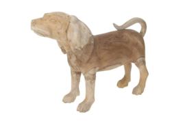 Houten kunst - Beeld - sculptuur - houten hond