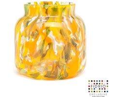 Design vaas Fidrio - Botanic - Glas kunst sculptuur - Bloemenvaas, mondgeblazen - Hoogte 20 cm