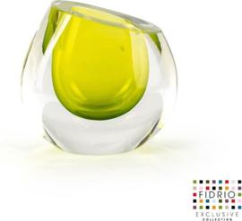 Design vaas Mini vase Lime - Fidrio Massive - glas, mondgeblazen - hoogte 11,5 cm