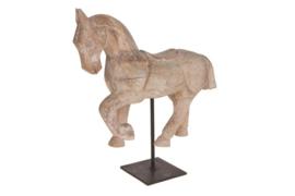 Houten kunst - Beeld - sculptuur - houten paard