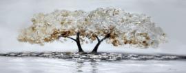 150 x 60 cm - Olieverfschilderij - Boom - natuur handgeschilderd