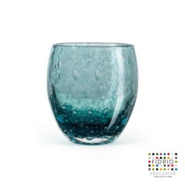 Design vaas  - Fidrio LAGOON - glas, mondgeblazen bloemenvaas - diameter 11,5 cm hoogte 20 cm --