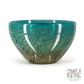 Design vaas Fidrio - glazen sculptuur - Fiji - Bowl - glas - mondgeblazen - 16 cm hoog --